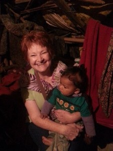 Barb and Indian child
