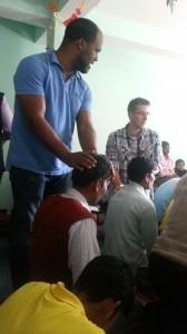 Bronston&Andrew praying