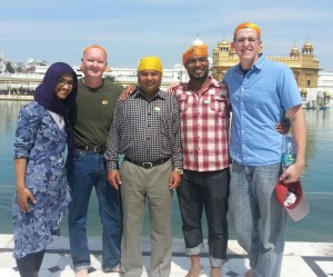 Team at Golden Temple