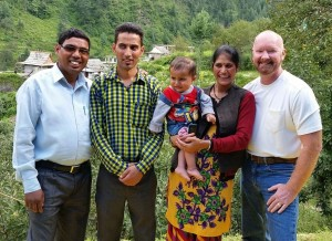 Pastor-Family in village AUG15