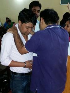 Joby praying in Solan