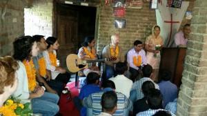 Sirmor village conf blessing team