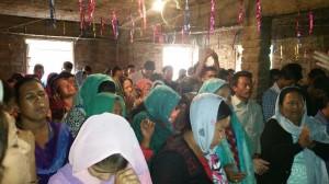 Sirmor village conf in worship