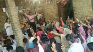 Sirmor village conf worship