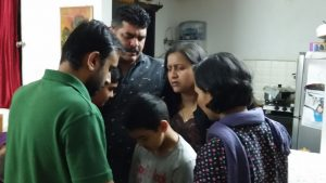 Joby-Rhema praying over Vijay family MAR16