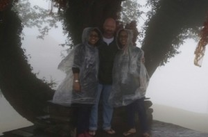 Dan - Shema - Ashwini on mtn in rain