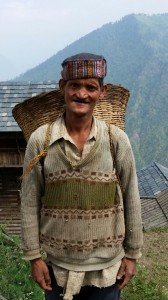 man in kullu mtn village