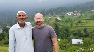 Dan with village leader