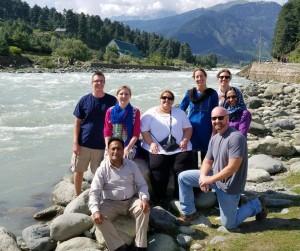 Team at river