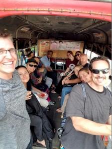 Team on bus